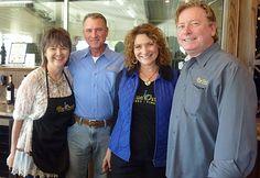 Danna and John Fredrick, Julie Fredrick Whitehead and Patrick Whitehead - Blue Ostrich Winery