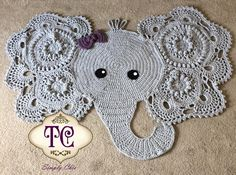 Tana Somerville never ceases to amaze me! She is a mom of twin toddlers who is also running a successful business at TC Simply Chic. Since summer of this year she has made nearly over 40 elephant rugs for her customers using our Josefina and Jeffery Elephant Rug Crochet Pattern, what an amazing progress! Pattern from: https://irarott.com/Josefina_and_Jeffery_Elephant_Rug_Crochet_Pattern.html