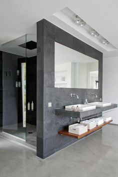 Modern rectilinear bathroom