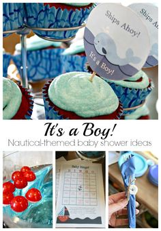 Cute and simple nautical baby boy shower ideas!