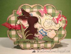 Happy Easter Card  Kate's ABCs & Elegant Edges Cricut Cartridges