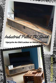 Upcycle an old locker into a beautiful Industrial Pallet Locker TV Stand. Our DIY Video Tutorial will show you how to create this project!
