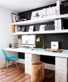A clean and organized workspace sets a great atmosphere and allows you to be more efficient. #homeoffice