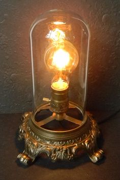 NeoVictorian Style Decorative Glass Dome Lamp. by CuriosityShopper