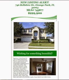 New Listing Alert: 746 Bellshire Dr in Oakleaf Plantation brought to you by Mike Schwiebert of INI Realty Investments Inc, the first 100% Commission Real Estate Office in Jacksonville, FL. www.100RealEstateJax.com