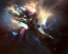 208 Angel Warrior HD Wallpapers | Backgrounds - Wallpaper Abyss ...