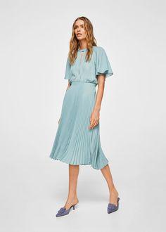 Vestido saia plissada | MANGO