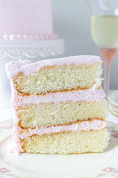 This feminine PINK PROSECCO CAKE is light and fluffy with a hint of champagne and a sweet light buttercream frosting! Prosecco Cake, Pink Prosecco, Cake Cookies, Cupcake Cakes, Bachelorette Party Food, Cake Recipes, Dessert Recipes, Sweet Recipes, Champagne Cake