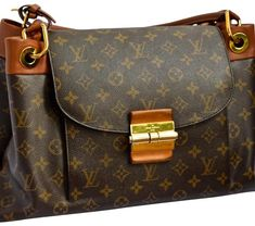 a85260316a4 Louis Vuitton Olympe Mm Monogram Brown Coated Canvas and Leather Shoulder  Bag