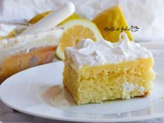 torta fredda limone e crema / easy lemon cake #ricettedigabri
