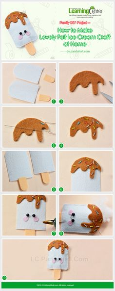Family DIY Project – How to Make Lovely Felt Ice Cream Craft at Home from LC.Pandahall.com   #pandahall