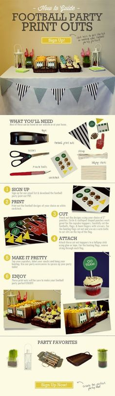 Football Party Print Outs