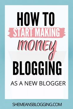 Started a new blog? Learn how to start making money blogging as a new blogger even if when it's so challenging! These beginner blogging tips are perfect for you if you want to make money as a new blogger #makemoneyblogging #bloggingtips #makemoneyonline Make Money Blogging, Make Money From Home, Way To Make Money, Make Money Online, Content Marketing Strategy, Email Marketing, Affiliate Marketing, Digital Marketing, Blogging For Beginners