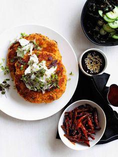 Recipe: Kimchi and crab pancake with banchan