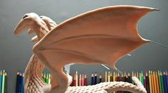 Full Dragon Sculpture Part 8, finished the heads. - YouTube