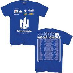 Nascar Dale Earnhardt Jr. Men's 2017 Nationwide Schedule Tee, Size: Medium, Blue