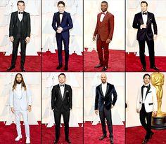 Oscars 2015 Red Carpet Fashion: Men in Tuxedos