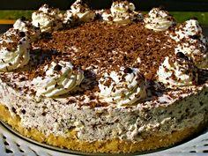 Nepečený stracciatella dort Something Sweet, No Bake Cake, Tiramisu, Cheesecake, Food And Drink, Baking, Ethnic Recipes, Gardening, Cakes