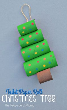 Upcycle your toilet paper rolls into this fun and easy Christmas craft or ornament for kids to make. (preschool projects)