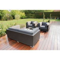 Monaco Garden Sofa is made of a premium flat weave all-weather rattan Aluminium Framing and poly rattan ensures durability & completely weather-proof Safety Glass Table Top Rattan Outdoor Furniture, Rattan Sofa, Outdoor Decor, Garden Sofa, Safety Glass, Sofa Set, Armchairs, Monaco, Bucket