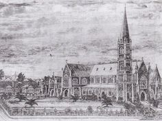 Sketch of St Patrick's Cathedral attributed to AWF Bligh in 1931.
