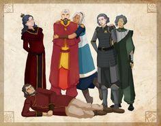 Team Avatar Kids from left to right Izumi, Bumi, Tenzin, Kya, Lin, and Suyin