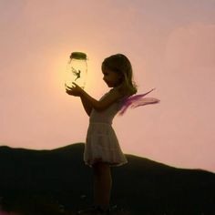 If you catch a fairy, let her stay long enough to light your way home then set her free.......