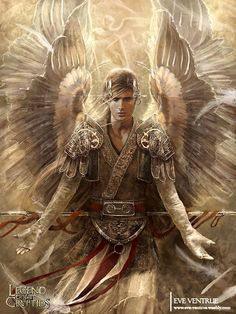 Male Angel Warriors | Magnificent! Male Angel Warrior. | Demons, and Angels