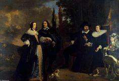 Bartholomeus van der Helst,   Portrait of a Family, (1613-1670, Netherlands)