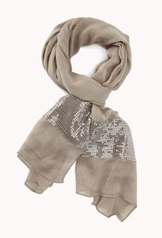 Touch Of Glam Sequined Scarf. Finish off your look with just a touch of glam Embroidery Scarf, Beaded Embroidery, Pretty Outfits, Cute Outfits, Stylish Dress Designs, Scarf Jewelry, Classic Outfits, Cute Fashion, Fashion Ideas