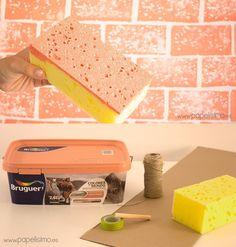 Cómo pintar una pared de ladrillos falsos - papelisimo.es