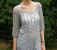 Ravelry: dollydolittle's Pip's Pineapple Lacy Top