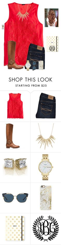 """QOTD #2"" by raquate1232 ❤ liked on Polyvore featuring J.Crew, Abercrombie & Fitch, Tory Burch, Alexis Bittar, Kate Spade and Casetify"