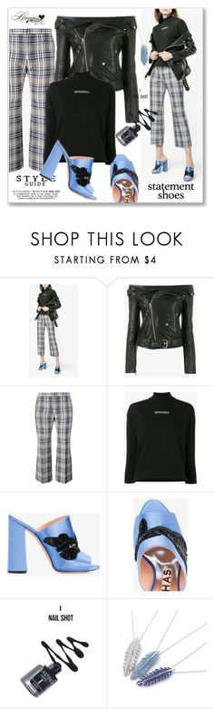 """""""Double Take: Statement Shoes"""" by lip-balm ❤ liked on Polyvore featuring Rochas, Faith Connexion, Alexander McQueen, Balenciaga and statementshoes"""