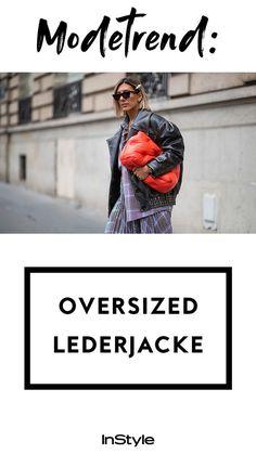 Modetrend Oversize Lederjacke