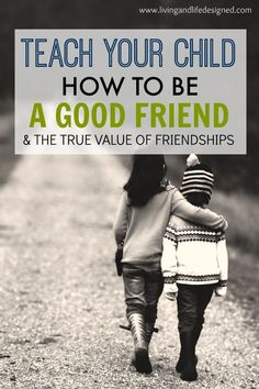 It's SOOO true that kid's friendships can be fickle, and they do need their…