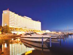 Exterior at 5 star hotel: Tivoli Marina Vilamoura Hotel. This hotel's address is: Marina de Vilamoura Vilamoura Waterfront Vilamoura and have 383 rooms Hotel Portugal, Portugal Travel, Vilamoura Portugal, Spas, Resorts, Hotel Algarve, Tivoli Hotel, Surf Trip, Exterior