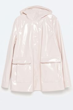 Raincoat from ZARA. Shop more products from ZARA on Wanelo. Raincoats For Women, Outerwear Women, Jackets For Women, Yellow Raincoat, Rain Gear, Hooded Raincoat, Floral Jacket, Spring Jackets, Shoes