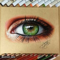 WANT A SHOUTOUT ? CLICK LINK IN MY PROFILE !!! Tag #DRKYSELA Repost from @samuel_saito Eye on MDF board I used Prismacolor pencils and Copic Markers . #eye #prismacolor #copicmarkers via http://instagram.com/zbynekkysela
