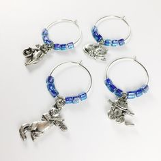 Cat Charm Wine Glass Tags, Fun Blue Cats Wine Glass Tags, Blue Cat Wine Charms, Blue Cats Wine Tags, Blue Cat Décor, Meow, I Love Cats by GroupTherapyWine on Etsy https://www.etsy.com/listing/285878023/cat-charm-wine-glass-tags-fun-blue-cats