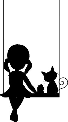 Girly Drawings, Art Drawings, Shadow Art, Silhouette Art, Mini Canvas Art, Art, Emoji Coloring Pages, Fairy Silhouette, Cat Artwork