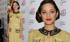 Marion Cotillard is a golden goddess in pleated gown at film screening - Love this dress!