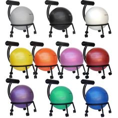 Shop for Isokinetics Inc Adjustable Exercise Balance Fitness Ball Chair Black Frame Ball & Pump. Get free delivery On EVERYTHING* Overstock - Your Online Sports & Fitness Destination! Office Ball Chair, High Office Chair, Office Chairs For Sale, Office Stool, Desk Stool, Metal Chairs, Home Living, Living Room, Decoration