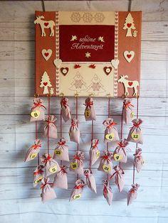 Adventskalender - Adventskalender nostalgisch mit 24 Säckchen - ein Designerstück von diegeschenkidee bei DaWanda