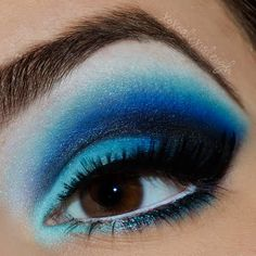 Blue Valentine by Alexis L. Click the pick to see what products she used. #makeup #beauty #valentinesday