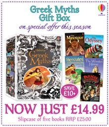 Five illustrated stories are presented in this gorgeous gift box and taken from the Usborne Reading Programme. Children can open up the world of Greek mythology through The Odyssey, Hercules, Perseus and the Gorgon, The Minotour and The Wooden Horse. Each story has been carefully rewritten to suit young readers who are on their way to discovering how enjoyable well-known stories can be.