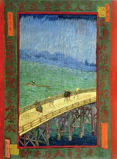 arthistorita:    Vincent van Gogh, The Bridge in the Rain (after Hiroshige), 1887, Van Gogh Museum  Van Gogh's take on Hiroshige. The prolific wood-cut print series was enormously influential in Europe, a phenomenon known as Japonisme.