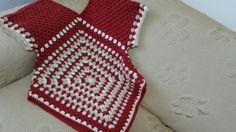 Maglia uncinetto tutorial.Blouse crochet granny square