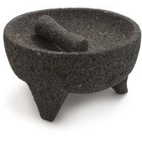 Molcajete - mexican version of mortar and pestle. Crafted from volcanic rock.