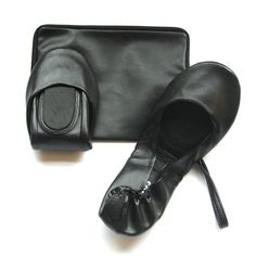 Leather Foldable Flats Black, $39, now featured on Fab.